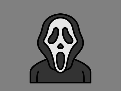 Horror Movie Characters - Ghostface icon flat scream ghostface character movie horror