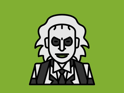 Horror Movie Characters - Beetlejuice icon flat beetlejuice character movie horror