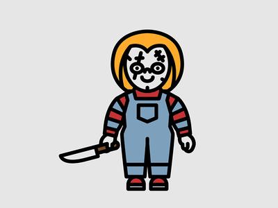 Horror Movie Characters - Chucky chucky movie horror character flat icon