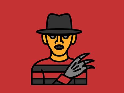 Horror Movie Characters - Freddy Krueger street elm krueger freddy movie horror character flat icon