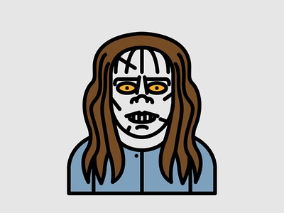 Horror Movie Characters - Regan Macneil from The Exorcist  exorcist the macneil regan movie horror character flat icon