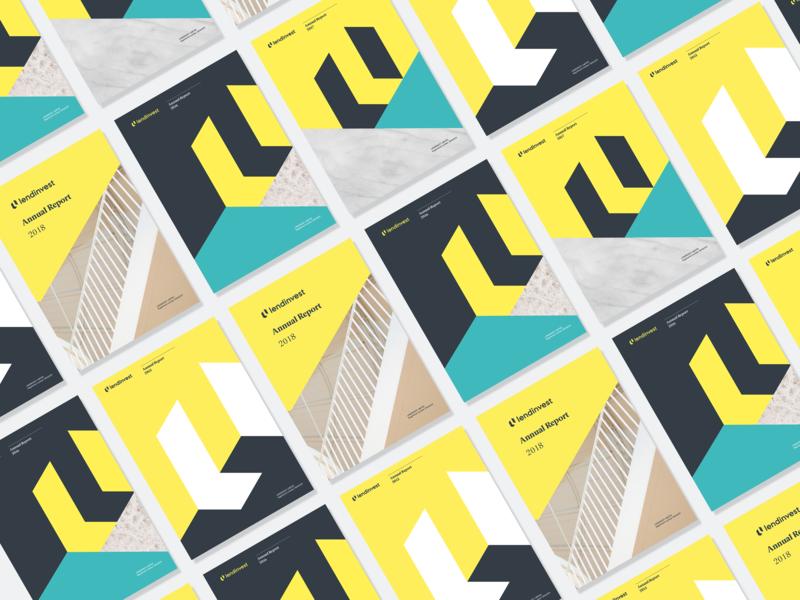 LendInvest Annual Report flat grapgic design typography report design branding
