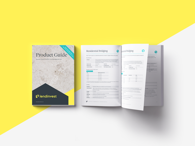 Product Guide booklet print graphic  design finance catalogue branding