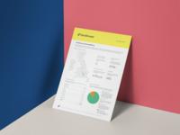 Platform factsheet flat data visulization finance brand graphic  design
