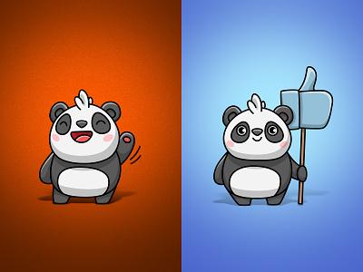 Two more pandas) like sticker character panda illustration