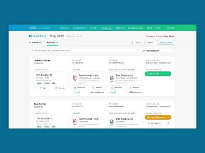 Document Management cards complex fresh gradient clean dashboard workflow management healthtech healthcare
