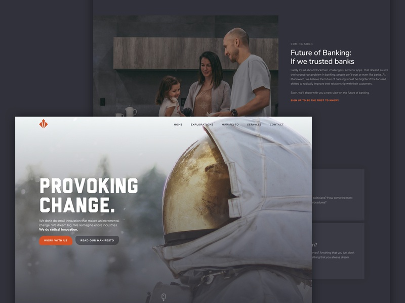 Landing Page clean simple innovation astronaut dark ui dark hero landing page landing
