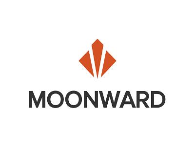 Moonward Logo geometric simple moonward logo
