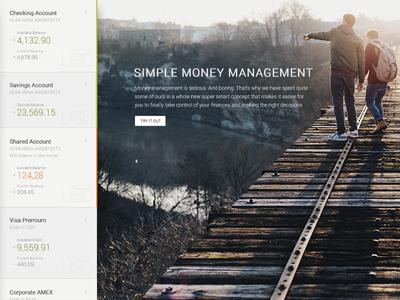 Simple Money Management Concept