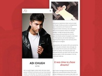 Personal Site for Adi Chugh (Actor)