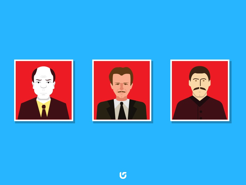 Communist Flat Minimal Characters vector cartoon illustration characters flat communist