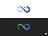 Letter I plus infinity Iconic Logo