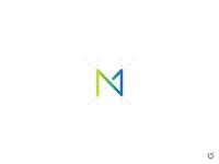 MN Logo brand Initials logo