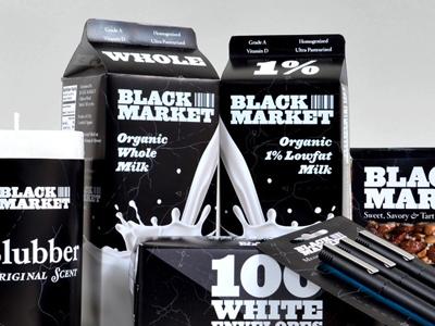 Blackmarket Products food packaging white label store brand blackmarket cinema4d
