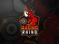 Raging Rhino Logo Design