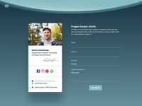 Personal site - contact page