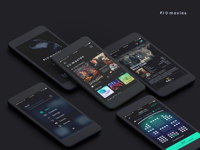I🖤movies ios flow app mobile concept movies ux ui buying tickets cinema