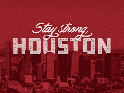 Houston design disaster relief red typography graphic design harvey hurricane houston texas texas houston