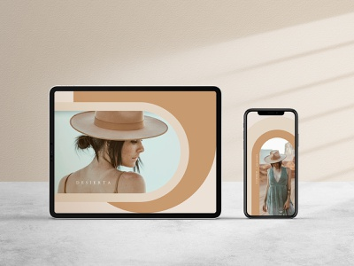 Desierta Fashion Presentation instagram stories instagram post digitaldesigner minimal instagram template graphicdesigner graphicdesign digitaldesign presentation template presentation layout fashion app fashion brand desert canyon modern arch fashion ipad instagram story template instagram story