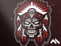 Tribe Chief Mascot Logo