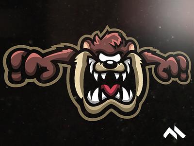 Taz Mascot logo tazmaniandevil looneytunes looney taz logomasot mascot mascotlogo logo