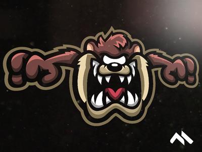 Taz Mascot logo