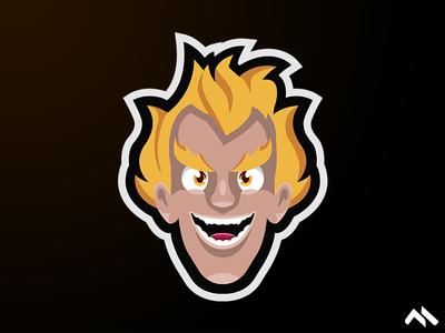 Junkrat Mascot Logo
