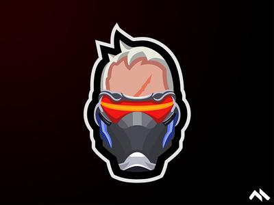 Soldier: 76 Mascot Logo
