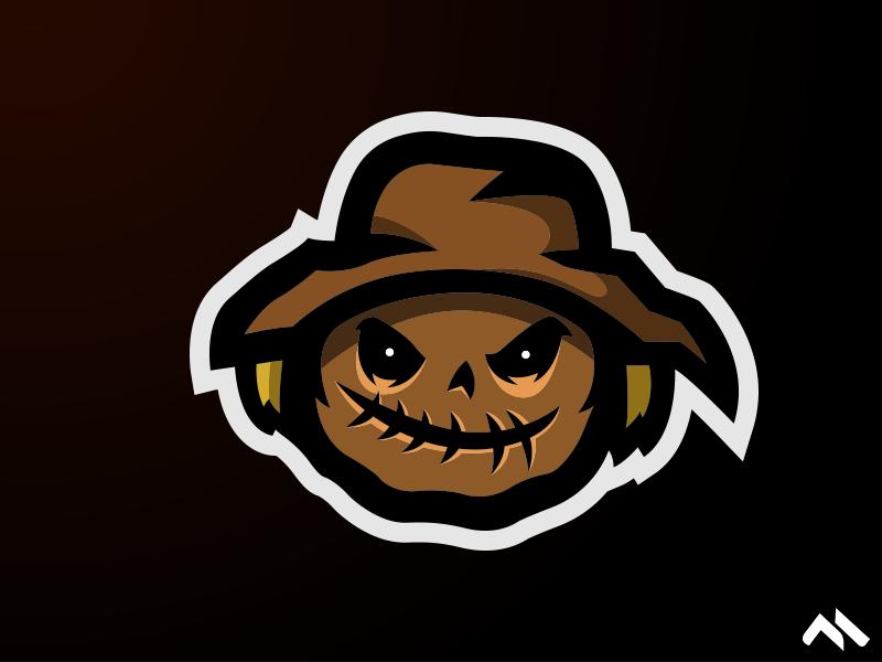 Scarecrow Mascot logo scarecrow scare halloween bash buylogo logomascot mascotlogo mascot logo