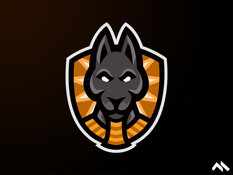 Anubis Mascot Logo egypt anubis artist illustration artwork identity branding brand art logomascot mascotlogo mascot logo