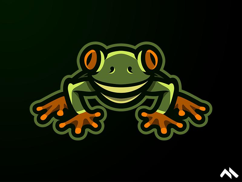 Frog Mascot Logo frog artist illustration branding identity buylogo logomascot mascotlogo mascot logo