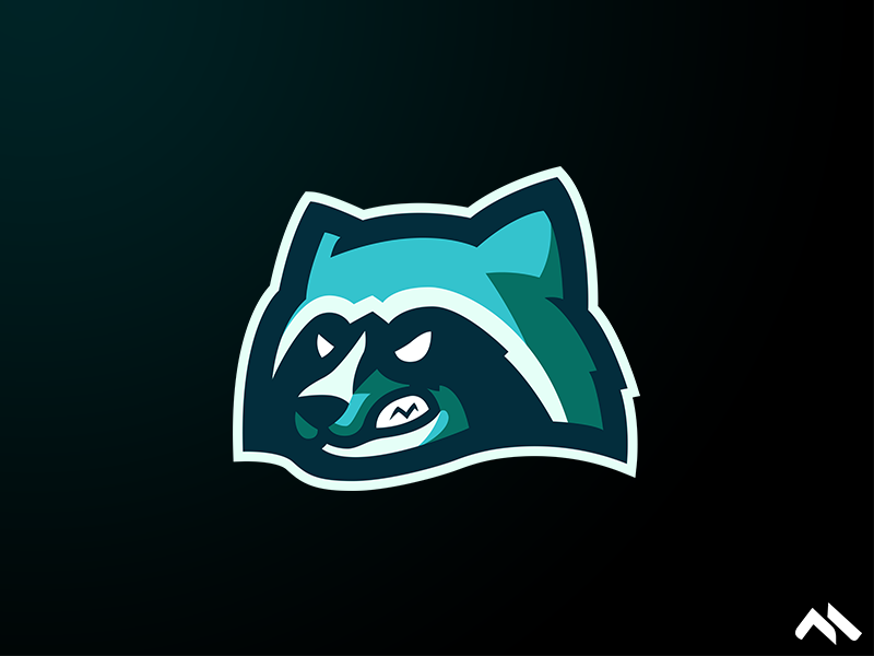 Raccoon Mascot logo wasbeer raccoon illustration identity branding brand art buylogo logomascot mascotlogo mascot logo