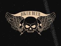 Biker Beer Label