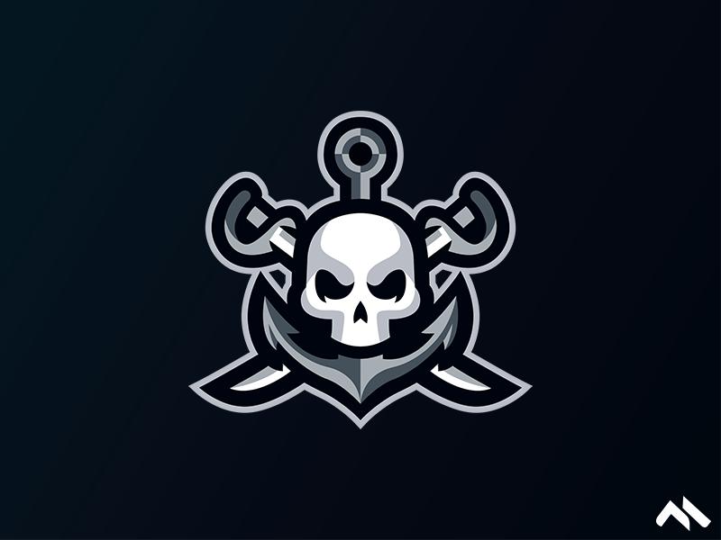 Skull Anchor Mascot logo identity illustration branding brand art buylogo logomascot mascotlogo mascot logo