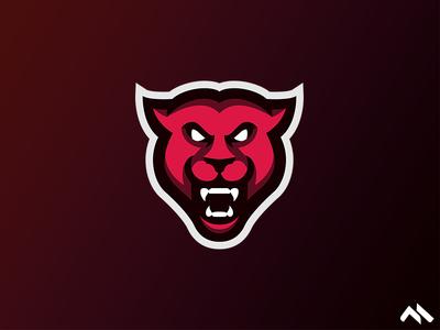 Panther Mascot Logo
