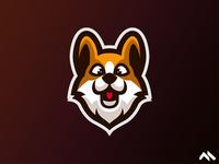 Corgi Mascot logo