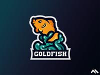 Goldfish Mascot logo