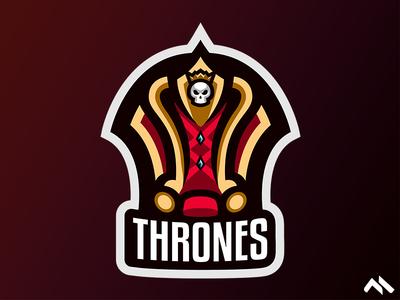 Thrones Mascot logo