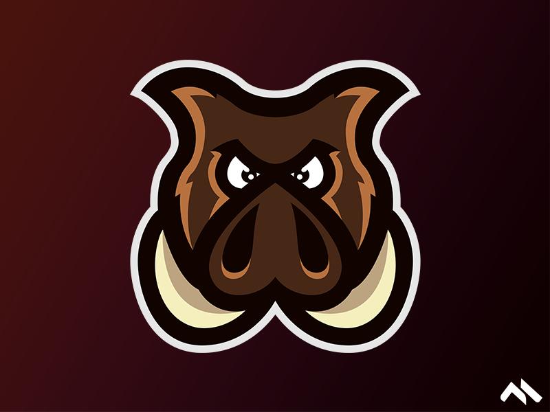Hog Mascot logo hog mascot pig hog logo hog art logo design mascotte mascot design mascot logos mascot logo