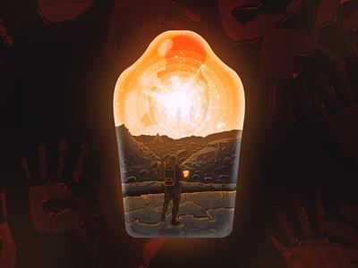 Death Stranding Poster illustration art illustrations hideo matth mountain poster design gaming game landscape illustration poster deathstranding
