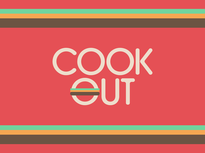 Cook-Out Rebrand snack service restaurant food guilty pleasure fast food burger logo rebranding rebrand cook out cookout