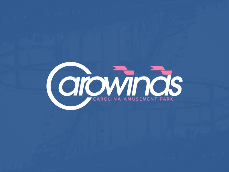 Carowinds Rebrand rollercoaster branding logo design idea concept redesign logo rebrand carolina south carolina north carolina amusement park