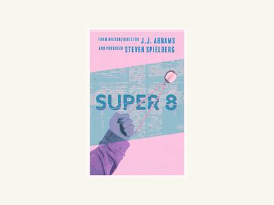 Super 8 Poster typography vector illustration hand locket super 8 film movie poster poster movie
