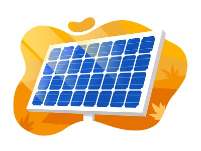 Solar panel graphic illustrator web ux ui concept art blog illustration free energy ecological green energy renewable renewable energy eco friendly solar energy solar panel infographic illustration vector flat