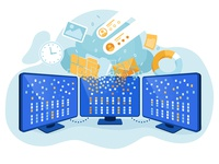Gathering and structuring data using cloud storages