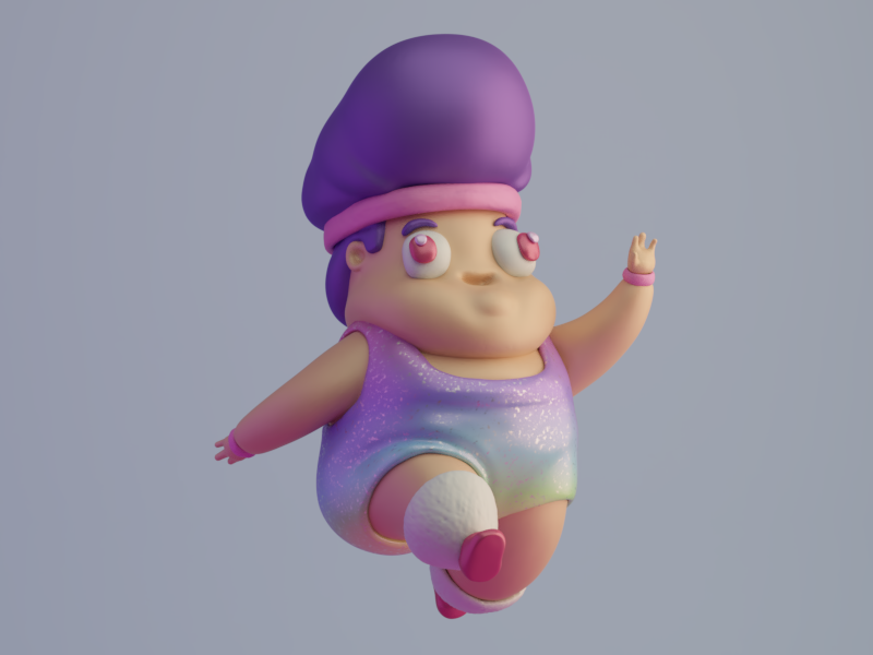 Be free. 3d design illustration character