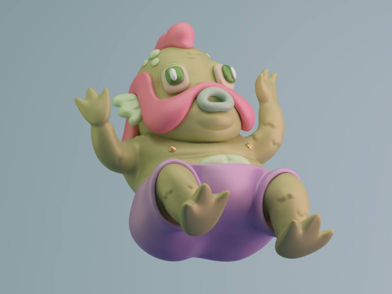 Don't be scared. 3d design characters illustration