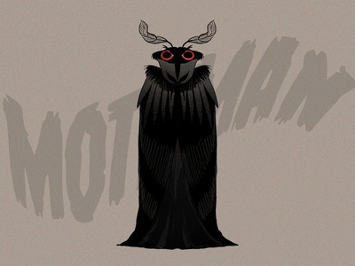 MOTHMAN procreate ipadpro illustration character design