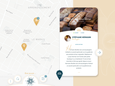 Edelweiss : Mobile App for gourmet people artisan luxury paris map gourmand gastronomy food