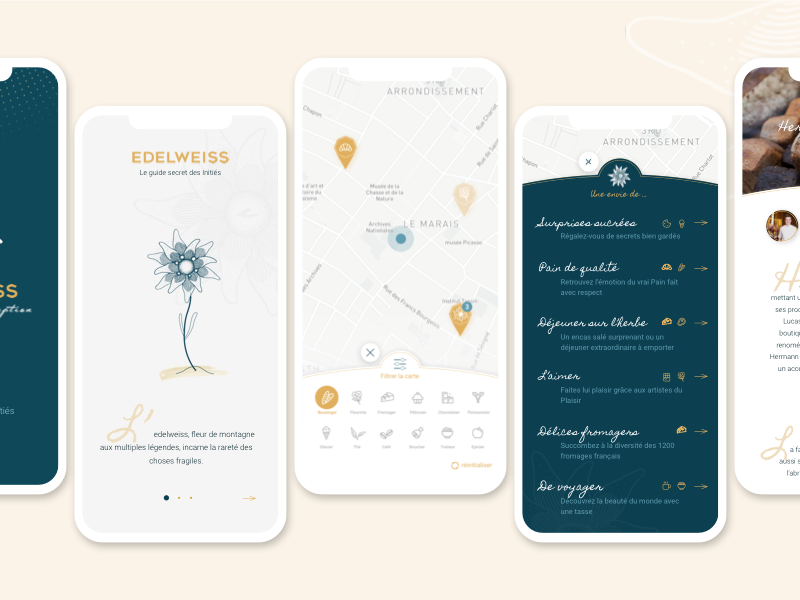 Edelweiss App - iPhone X iphone x paris gourmet app mobile